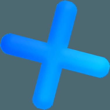 Парящая фигура крестик